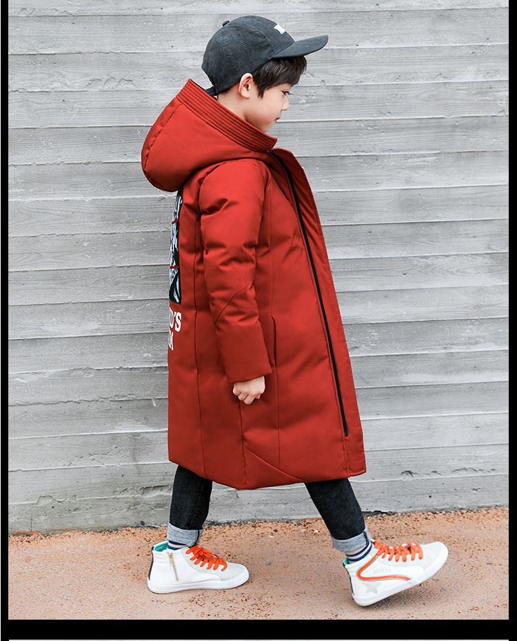 -30 degree children clothing 19 boy clothes warm winter down cotton jacket Hooded coat waterproof thicken outerwear kids parka 5