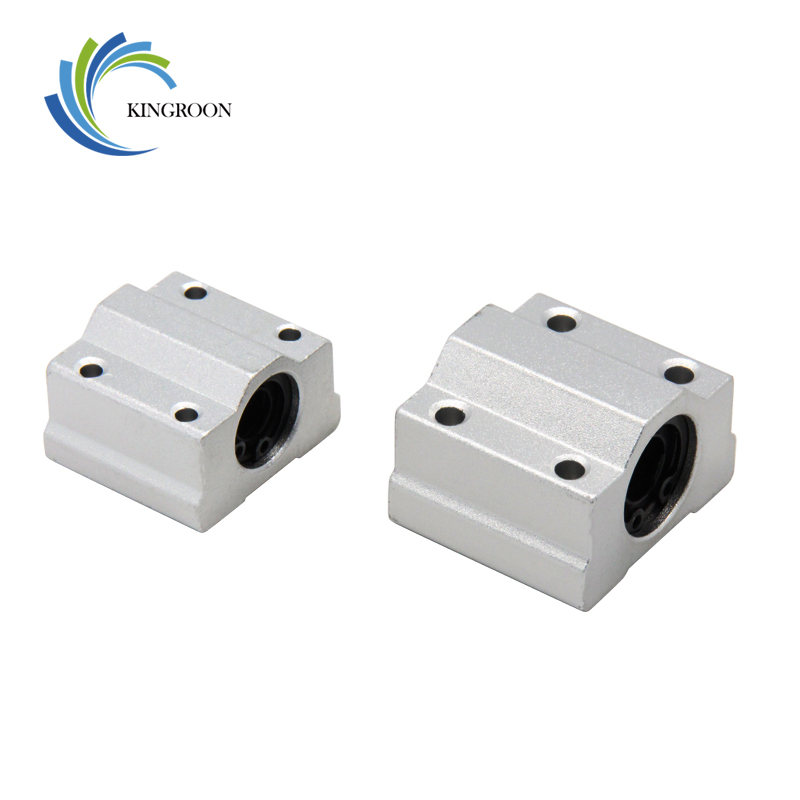 4Pcs SC6UU SC8UU SC10UU SC12UU SC16UU SCS20UU Linear Ball Bearings Aluminium Slide Bushing Block For Linear Guild Rail Shaft