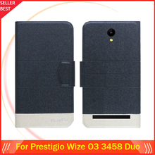 """5 Colors Factory Direct!! Prestigio Wize O3 3458 Duo 4.5"""" Case Dedicated Fashion Leather Protective 100% Special Phone Cover"""