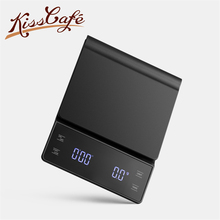 3kg / 0.1g Household Electric Scale Portable Drip Coffee Scale with Timer Electronic Weighing Bar Kitchen High Precision LCD laboratory balance scale 50g 0 001g high precision jewelry diamond gem lcd digital electronic scale counting function portable