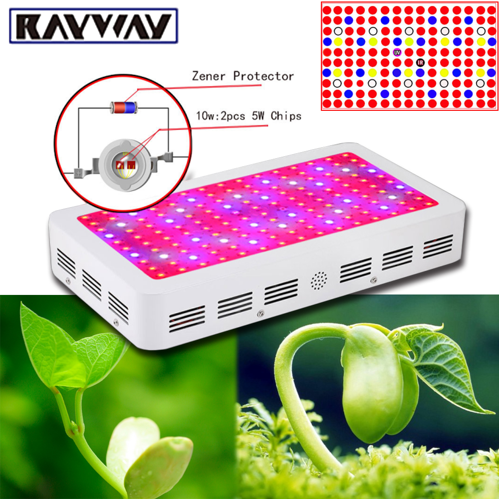 RAYWAY Full Spectrum LED Grow Light 216W 300W 1500W Plant Grow Lamp Led Phytolamp Hydroponics Flower Seed Double Chip Grow Light 300w grow led light ufo full spectrum 277leds smd5730 plant grow lamp for hydroponics system aquarium grow tent flowering