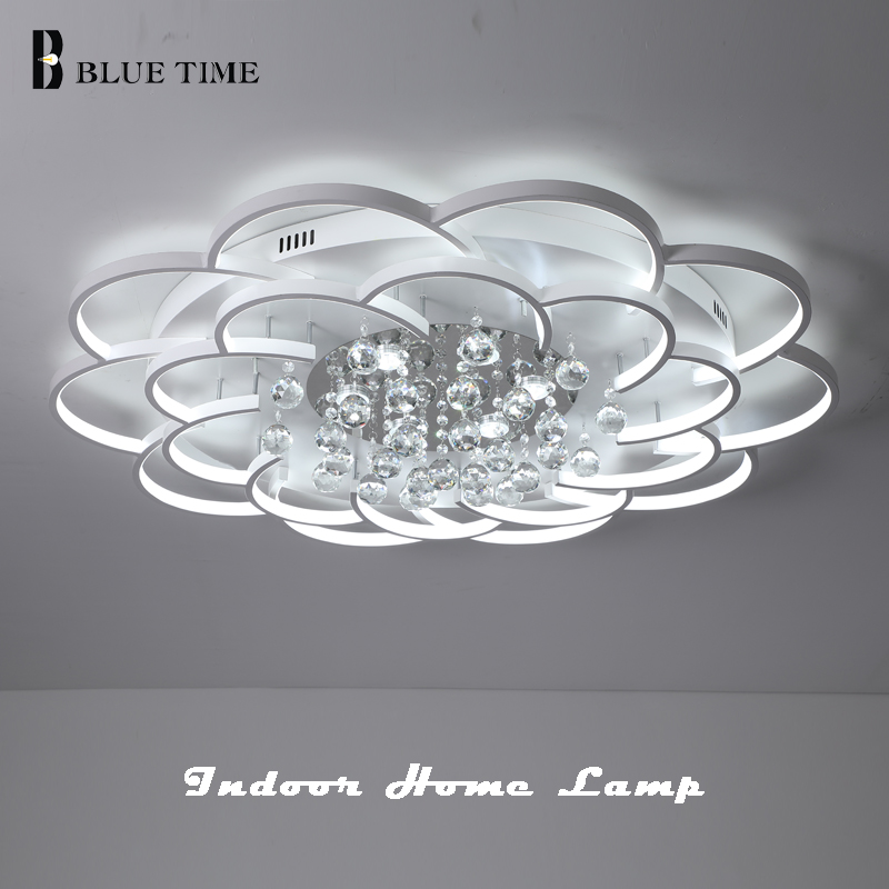 New Arrival Modern LED Crystal Ceiling Light For Living room Lamp Bedroom Lamp Dining room White Indoor Home Led Ceiling Lamps цены