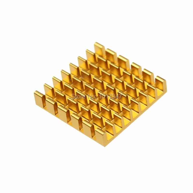 5 Stücke Los 25x25x5mm Aluminium VGA Karte RAM DDR Speicher Kühler Kühlkörper Adhensive 3 Mt Band