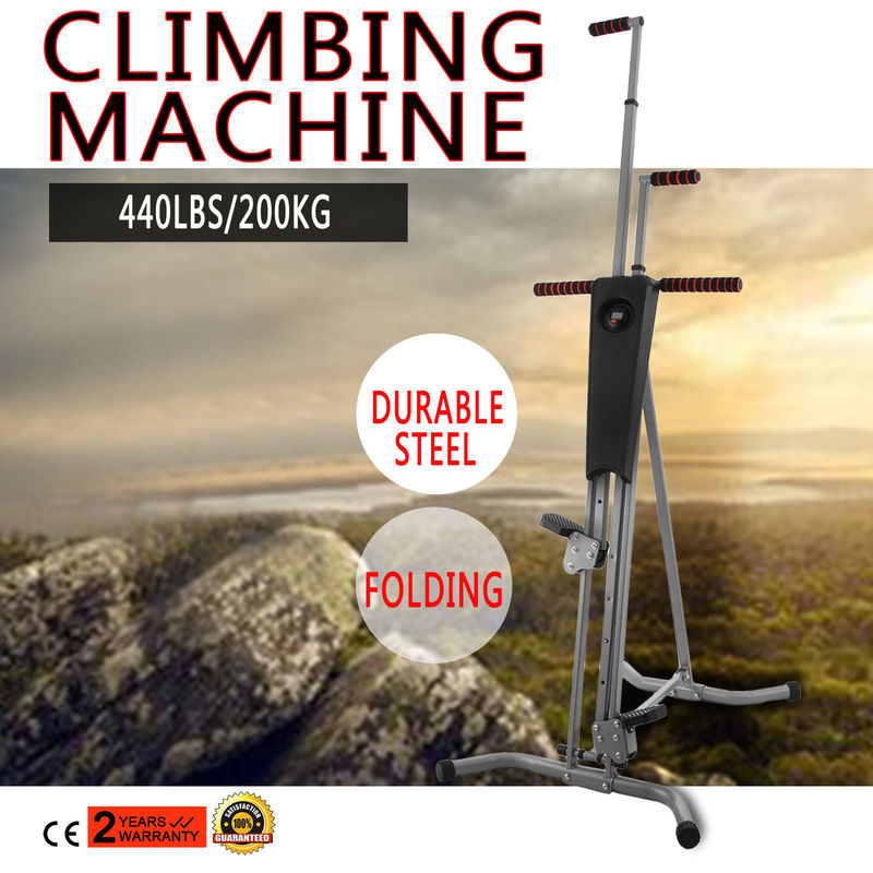 NEW Fitness Equipments Climber Vertical Stepper Exercise Fitness with Monitor & Manual Sealed Home Fitness Steppers Freeshipping ancheer new x shape folding magnetic upright exercise bike with pulse fitness equipment 100kg magnetic upright fitness bike