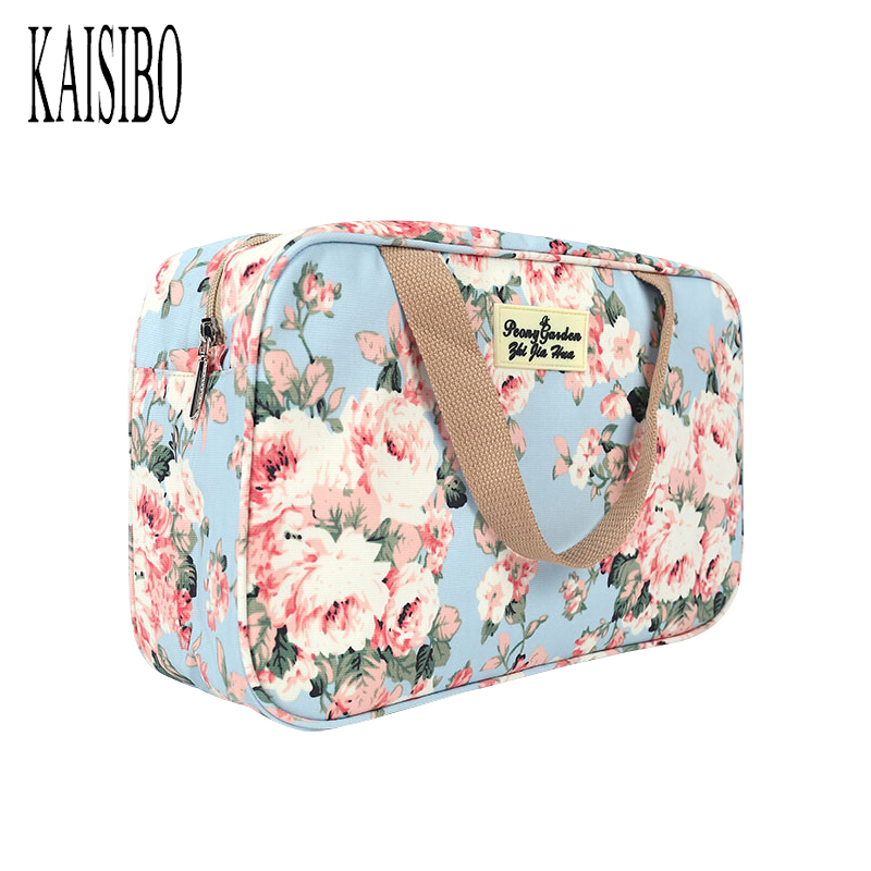 KAISIBO Waterproof Cosmetic Bags Women Printing Storage Organizer Handbag Travel Toiletry Bag Women Makeup Necessaries