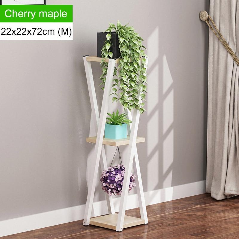 Многослойное платье с цветочным узором подставкой внутренние, из кованого железа балкон цветочный горшок стойки напольные Ящики для гостиной шкаф мебель для дома - Цвет: L168-M-white