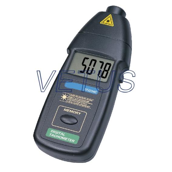 DT2234C Digital Laser Photo Tachometer Non Contact RPM Tester Meter Gauge  цены