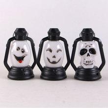 Halloween Night Lights Children Surprise Gifts Skeleton Ghost Pumpkin Kerosene Hand Held-Flash Lantern Lamp Decoration