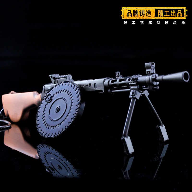 DP-28 игра Playerunknown's Battlegrounds 3D брелок pubg кастрюля кулон Забавная детская игрушка пистолет предметы снабжения
