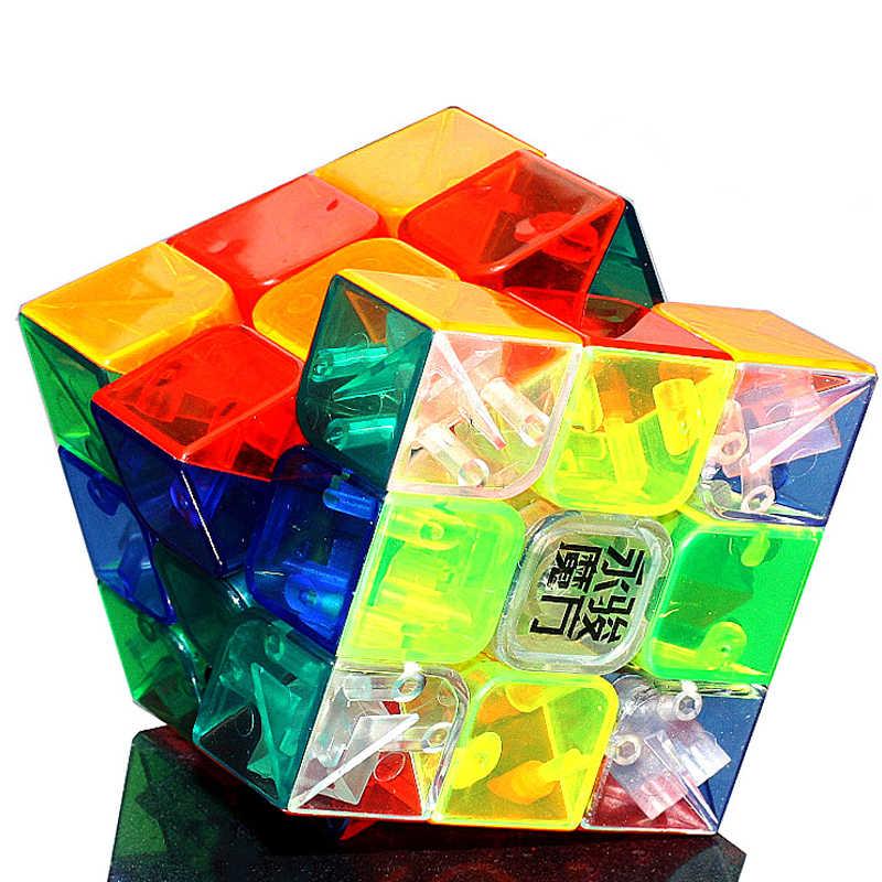ホット販売 YJ Yongjun さんユーロン 3 × 3 × 3 マジックキューブ高品質透明非ステッカー立方おもちゃ子供のためのパズルキューブギフト