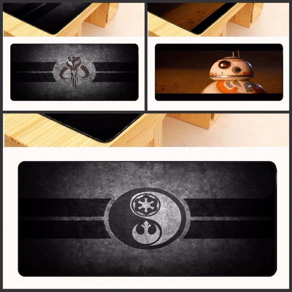 Yuzuoan Бесплатная доставка Звездные Войны Логотип XL большой игровой фильм Мышь pad клавиатура, коврик Рабочий стол чашки мат подарок замок края...