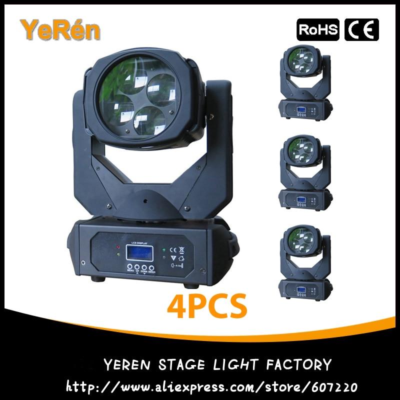 (4PCS) Beam Led Moving Head DJ Lighting 4pcs 25W White Led Lamp DMX9/15 Channels LED Effect Light Disco Light