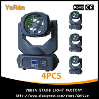 (4PCS) Beam Led Moving Head DJ Lighting 4pcs 25W White Led Lamp DMX9/15 Channels LED Effect Light Disco Light