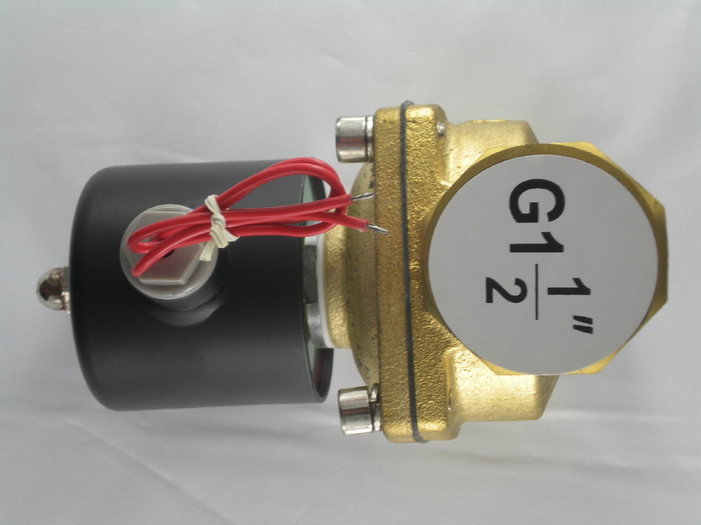 "1-1/2"" Electric <font><b>Solenoid</b></font> <font><b>Valve</b></font> 110/<font><b>120</b></font> <font><b>VAC</b></font> N/C, VITON, Water Diesel <font><b>Air</b></font> B21V"