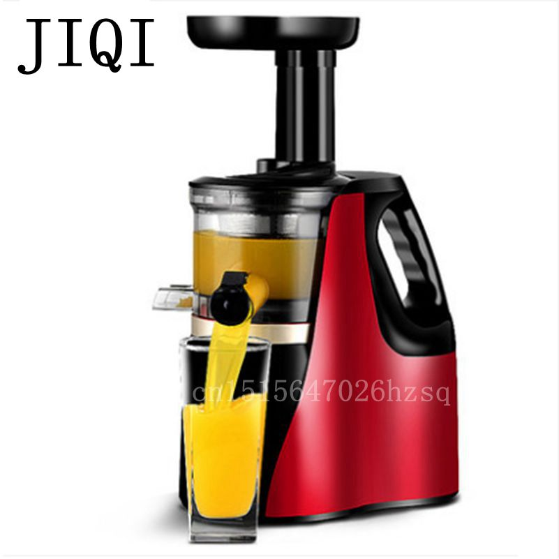 JIQI household electric Slow Juicer 150W power Food processor Automatic multifunction Juicing machine, jiqi household portable 2 cup juicers mini electric automatic juicing machine 300w power for juicing mixing stirring