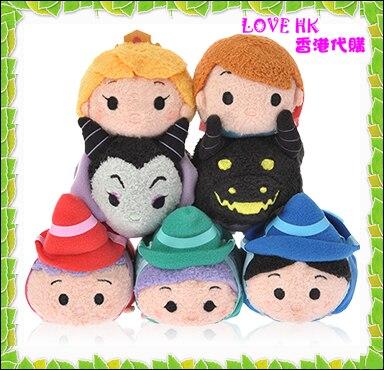 Original TSUM TSUM Sleeping Beauty Fauna Fairy Maleficent Mini Stuff Plush Toy Girl Birthday Gift Collection