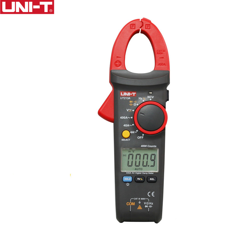 UNI-T UT213A 400A Digital Clamp Meters Voltage Resistance Capacitance Multimeter Auto Range multimetro Diode цена