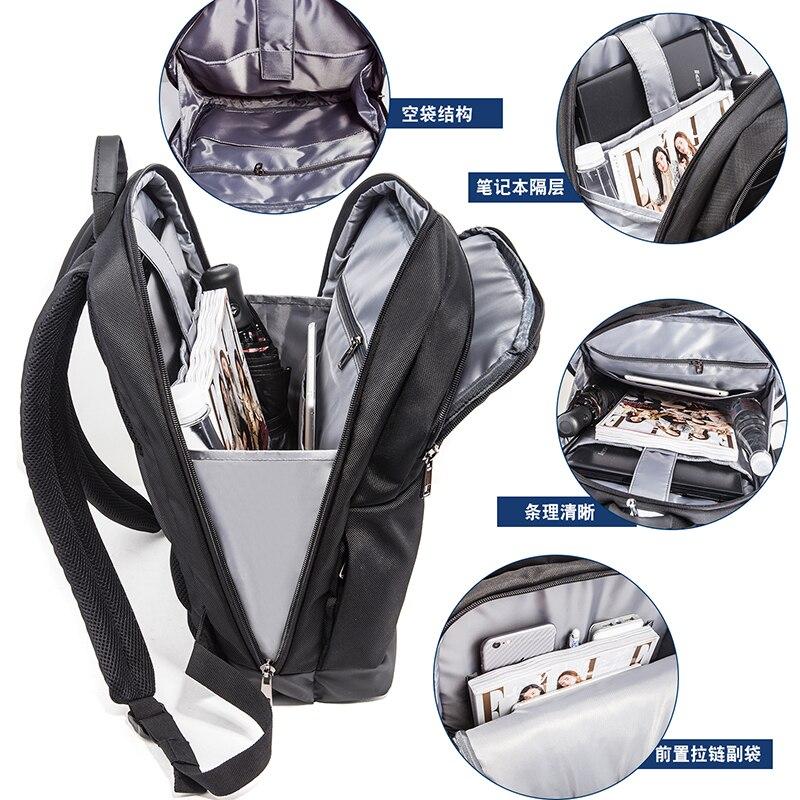 Купить с кэшбэком FANLOSN Laptop Backpack External USB Charge Computer  Large Capacity Students Business Bag Waterproof Bags for Men Women
