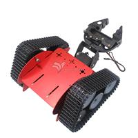 Tztrot 6 гусеничная машина Танк шасси гусеничный робот автомобиля + 2DOF Механическая коготь + Двигатель + Servo для Arduino