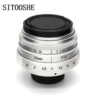 35mm f1.6 C mount camera CCTV Lens+ C NEX/FX/M43/PQ adapter Len for Canon EOS Sony E NEX FUJI FX Pentax Samsung SLR camera