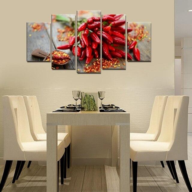 Heißer Pfeffer Stillleben Bild für Küche Zimmer Wand Kunst Leinwand Druck  Lebensmittel Poster Malerei Restaurant Dekor Großhandel