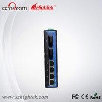 Hightek hk 86204 ООН управления промышленных 2 порт Оптическое волокно и 4 порта коммутатора ethernet