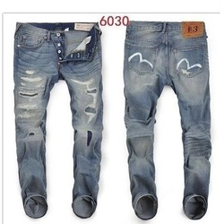 2020 Nieuwe Aankomst Authentieke Evisu Trend Mode Mannen Broek Jeans Straight Print Gewassen Gaten Top Kwaliteit Mid Taille mannen broek