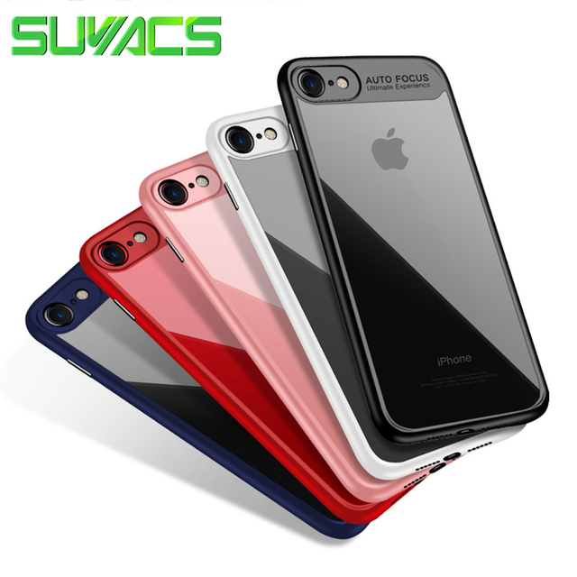 """SUYACS """"Auto Focus"""" English Letters For iPhone 5 5S SE 6 6S 7 8 Plus X XS MAX XR PC & TPU Ultra Thin Shockproof Cover Cases"""