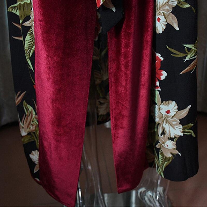 Plus Size Spring Velvet Abaya Kimono Kaftan Dubai Arabic Islam Women Floral Cardigan Muslim Hijab Dress Turkish Islamic Clothing