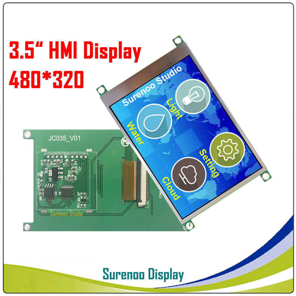 "3.5"" 480*320 HMI Intelligent Smart USART UART Serial TFT LCD Module Display Panel For Arduino Without Touch Panel"