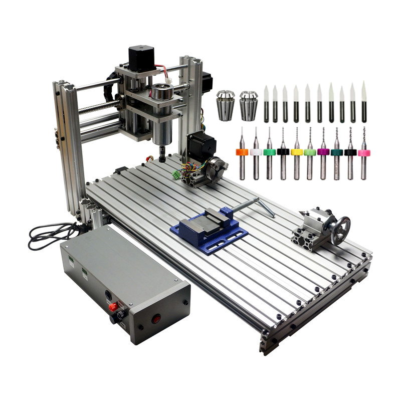 DIY CNC Router 3060 Metal Mini CNC Milling Machine for PCB Wood Carving no tax to russia diy 2520 4axis mini cnc router cnc lathe machine for wood pcb plastic carving and milling