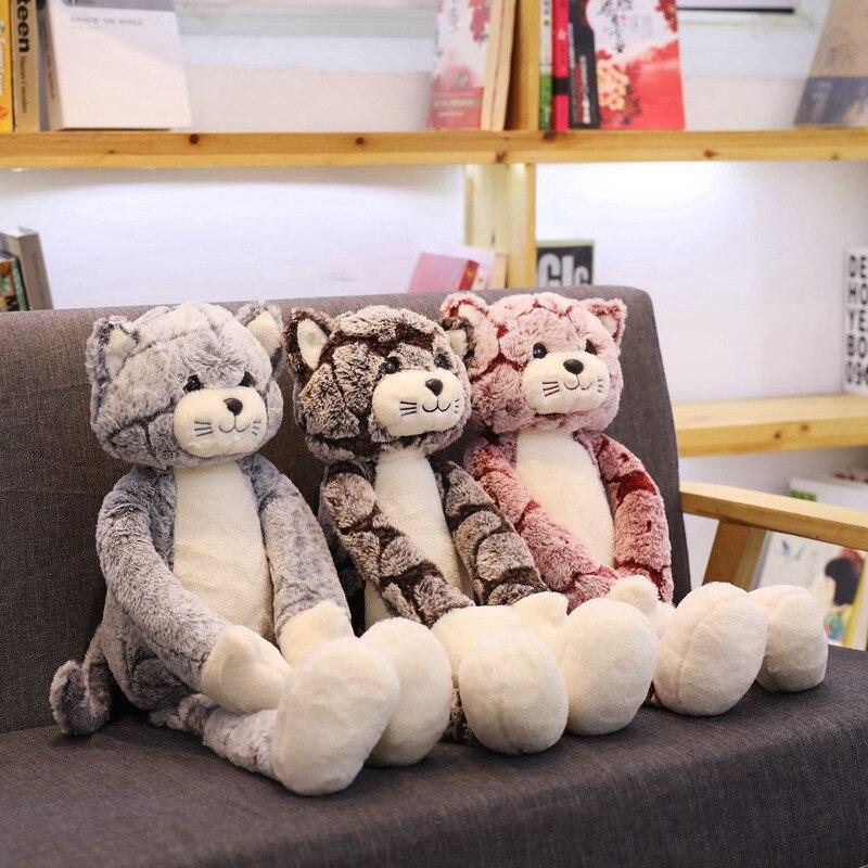 1PC 50/70/90 CENTÍMETROS Gatos Kawaii Brinquedos de Pelúcia Bichos de pelúcia Bonito Fluffy Cat Dolls Macio Crianças brinquedos Crianças Presente de Aniversário Presentes de Natal