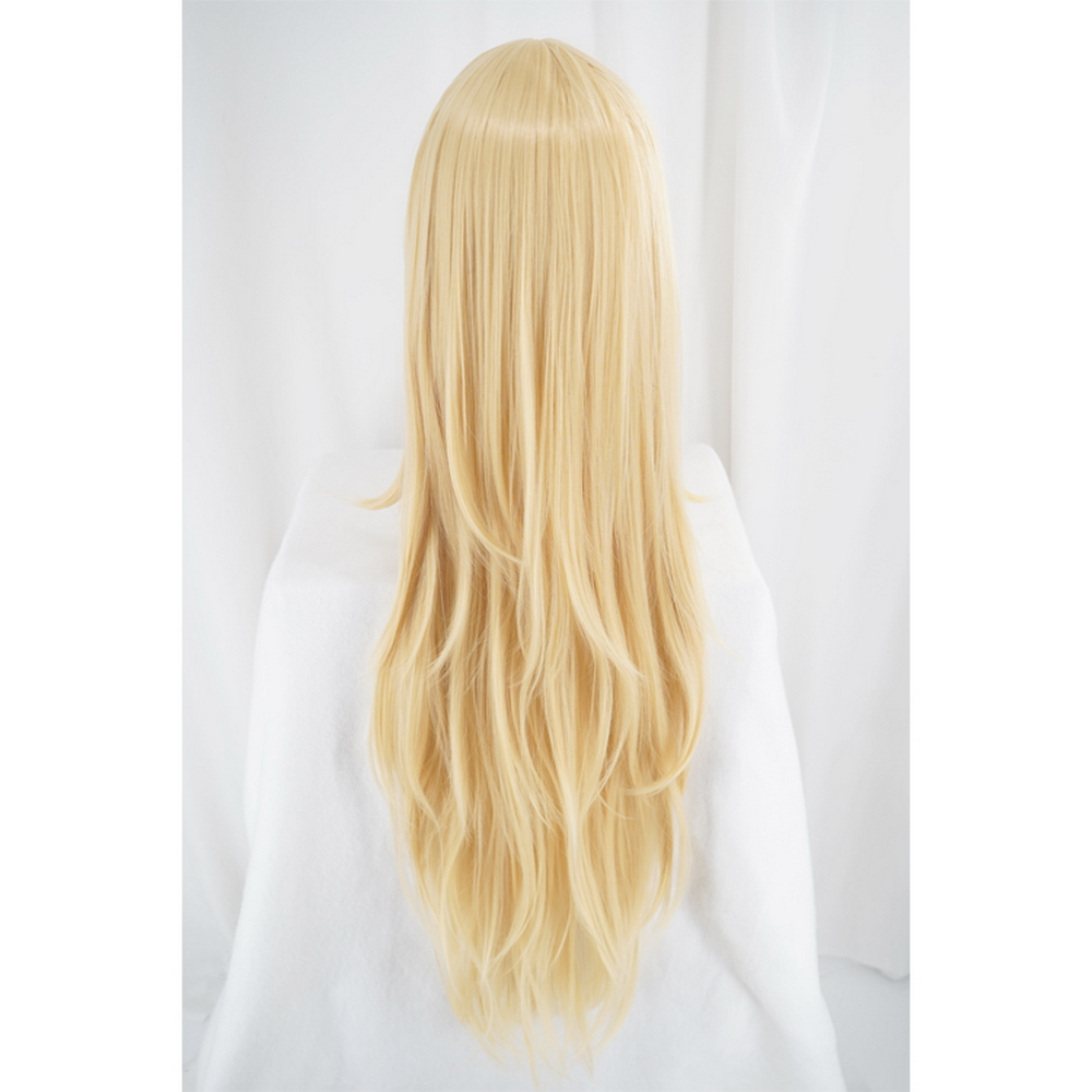 Angels of Death Rachel Gardner Ray Cosplay Wigs For Women 100cm Long Straight Layered Blonde Cosplay Wig Anime Synthetic Hair