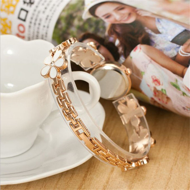 Rose Gold Bracelet Watches 1