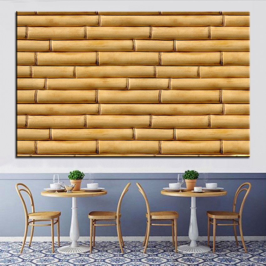 Large size printing oil painting bamboo sticks wall