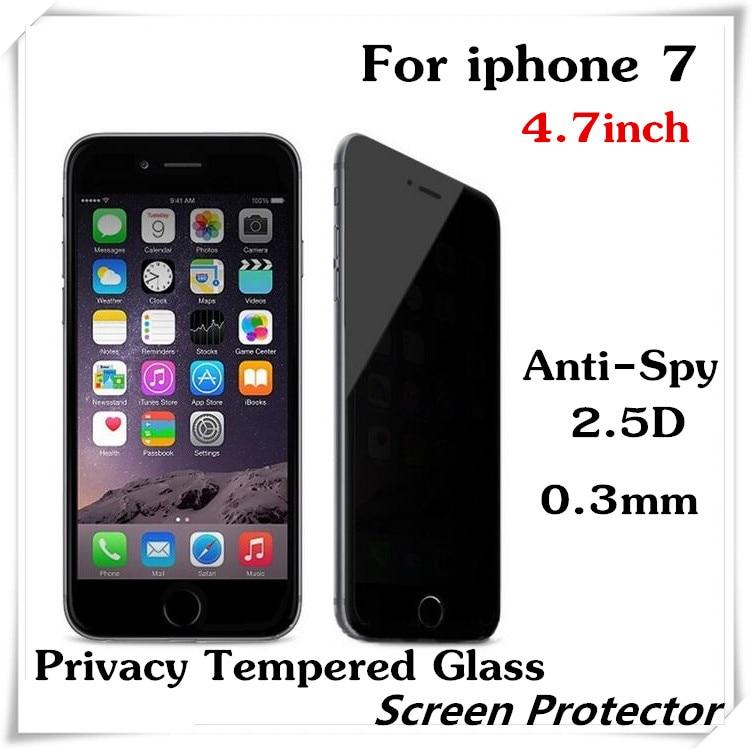 imágenes para 10 unids Anti-Spy de Privacidad de Vidrio Templado Para el iphone 7 de 4.7 pulgadas Protector de Pantalla A Prueba de Explosiones de Protección de Cobertura Total película