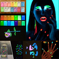 10g/lot Coating Chrome Nail Art Glitter Phosphor Luminous Powder Coating DIY Photoluminescent Dust Glow in Dark Powder Pigment