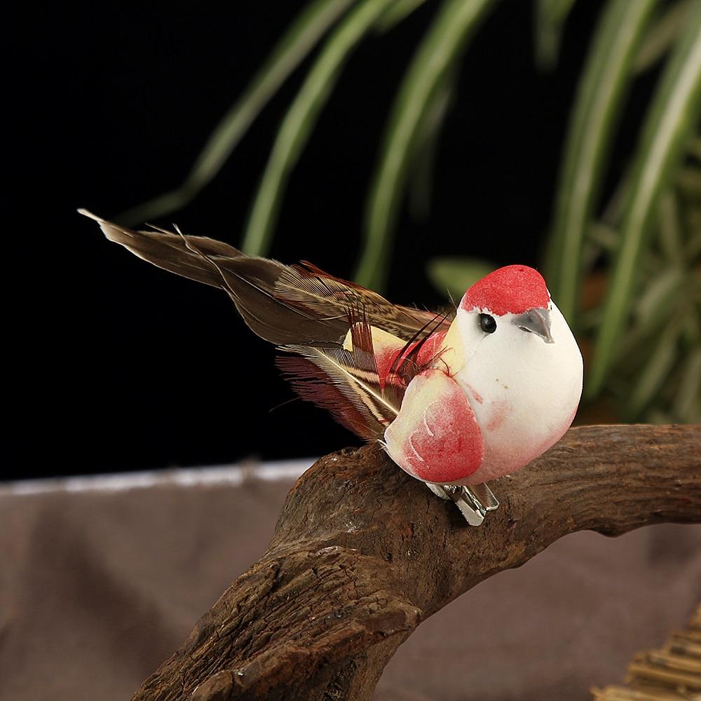 Helder 12 Pcs Kunstmatige Simulatie Vogel Mini Papegaai Vogel Props Handgemaakte Ultra Lichtgewicht Papegaai Voor Thuis Slaapkamer Fairy Gardendecor Verlichten Van Warmte En Zonnesteek
