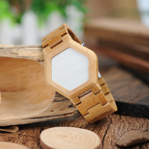 Image 4 - BOBO BIRD V E03 Casual LED Digital Bamboo Watch Night Vision LED Watch Cool LED Display Clock with Unique LED Date Day