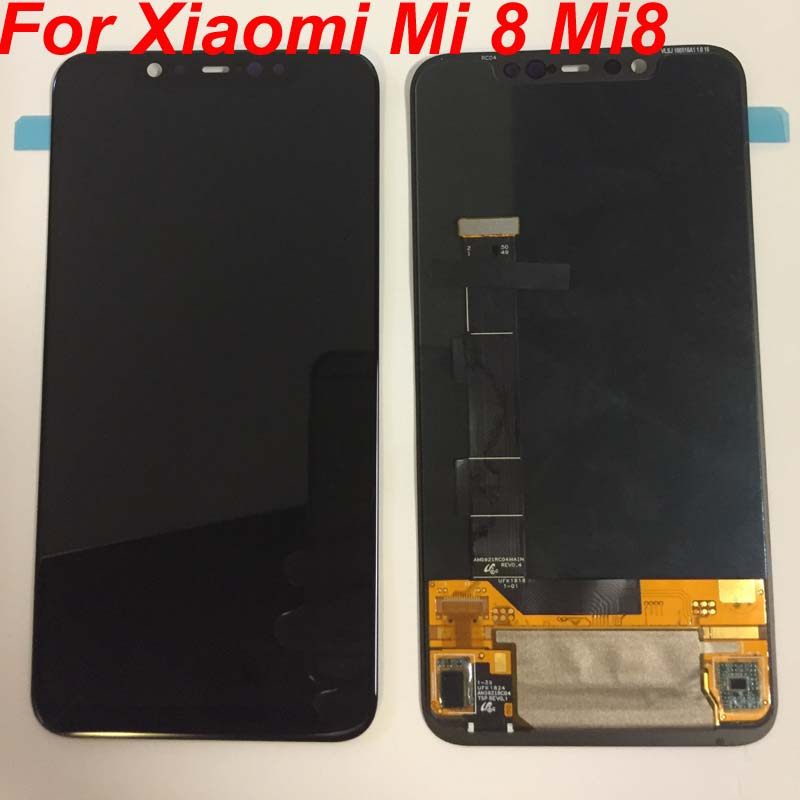 2018 New Supor Amoled LCD Screen For Xiaomi Mi 8 MI8 LCD Display Digitizer Touch Screen