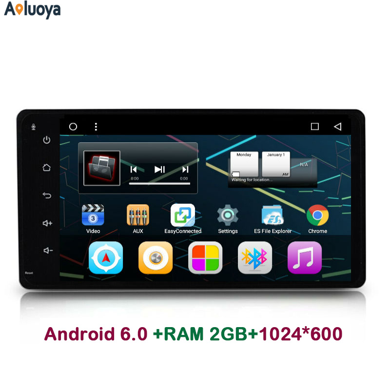 Aoluoya Quad Core 2GB RAM Android 6.0 CAR Radio DVD GPS PLAYER FOR Toyota old corolla RAV 4 Camry Prado Vios Hilux Audio BT WIFI