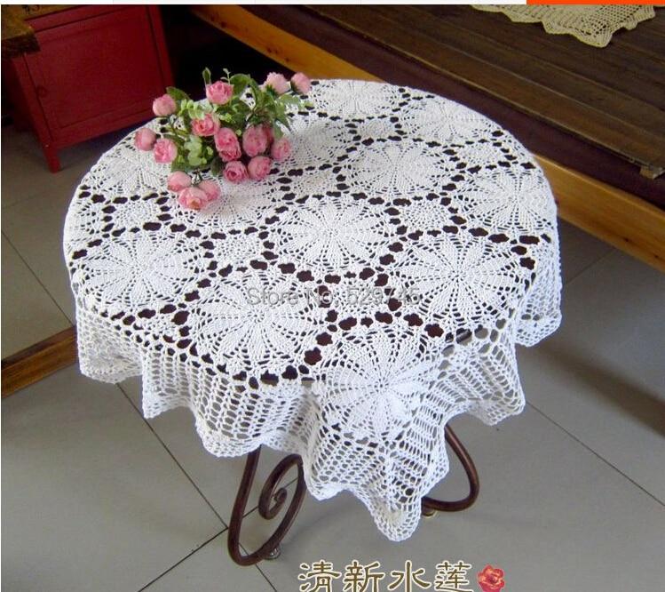 Handmade Cotton Crochet Lace Decorative White Square Idyllic Small  Tablecloths Doilies Sofa Cover Cloth Home Textile ...