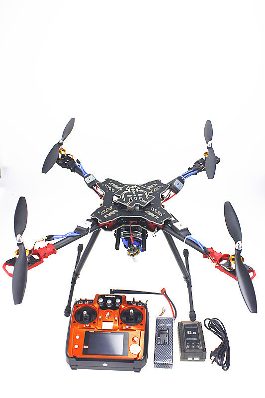 F11066-D 4 Axis Foldable Rack Quadcopter RTF AT10 Transmitter QQ Flight Control Motor ESC Propeller Camera PTZ Battery Charger f02015 c 6 axis foldable rack rc quadcopter kit with qq super flight control 1000kv brushless motor 10x4 7 propeller 30a esc
