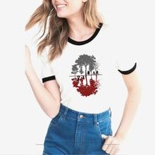 funny stranger things tshirt summer fashion t shirt Women Harajuku Short Sleeve Graphic t-shirt Cartoon Top Tees female
