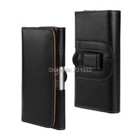 Wallet Leather leechee Litchi Plain Pouch Case For iphone 6 6S Plus Samsung Galaxy S8 clip belt Skin Stand Cover Holder 35pcs