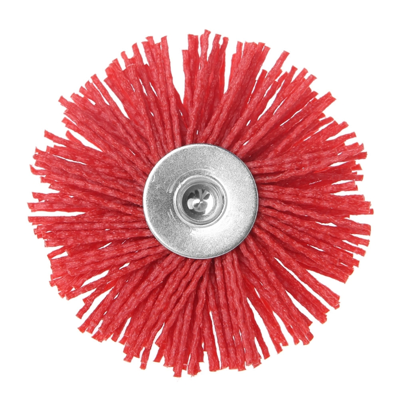 Deburring Abrasive Steel Wire Brush Head Polishing Nylon Wheel Cup Shank For Furniture Wood Sculpture Rotary Drill Grinding Tool