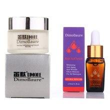 Dimollaure отбеливающий крем с сильным эффектом+ Сыворотка для удаления веснушек мелазма пигмент меланин солнечные ожоги шрамы от акне коричневое пятно