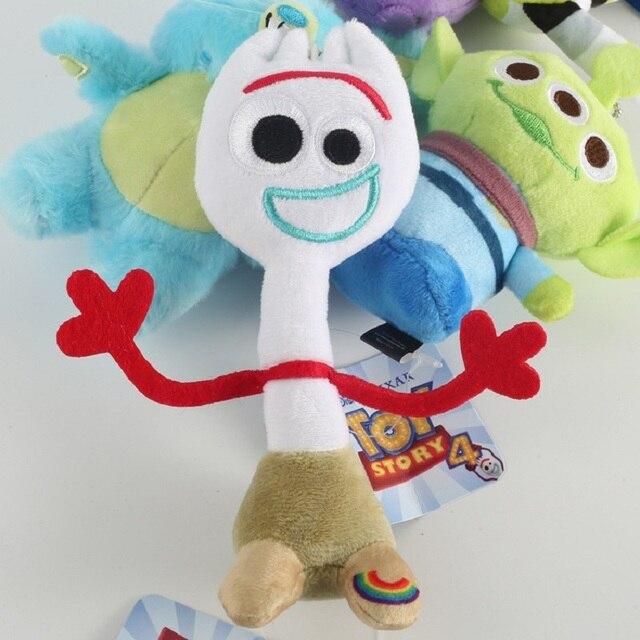 Novo Filme Toy Story Buzz Lightyear Alienígena Forky 4 Bonecos de Pelúcia Coelho Recheado Figura Dos Desenhos Animados Presente Para As Crianças Crianças 15 centímetros