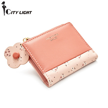 Brand Small Wallet Female Short Zipper Simple Fresh Student  Purse Fashion Women Wallets PU Leather Coin Purse Card Holder