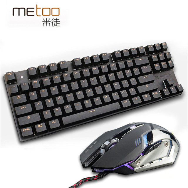 Mechanical Keyboard+Mouse combo set 3200DPI gaming light Russia stickers 5
